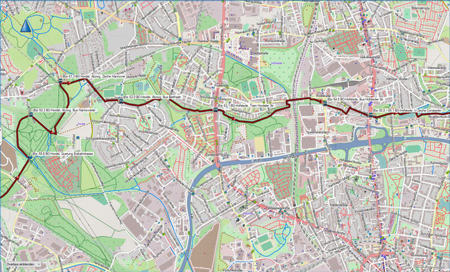 (B) Rund um Bochum Detailkarte 13 BO-Hordel - BO-Hofstede