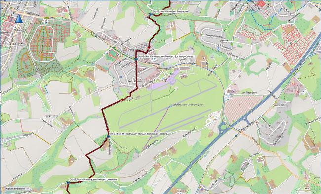 Rund um Mülheim, Karte 2 MH-Holthausen-Menden, Rumbachtal - MH-Holthausen-Menden, Rossenbecktal