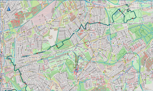 Z Zollvereinweg Karte 2 E-Altenessen-Süd, Palmbuschweg - Gelsenkirchen-Feldmark, Revierpark Nienhausen