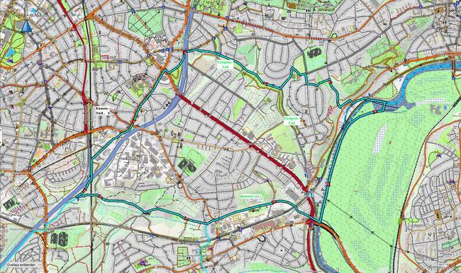 Karte von Essen-Bergerhausen