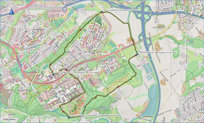 Rund um den Querenburg Karte