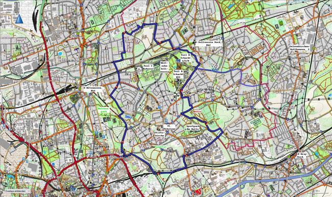 Karte von Essen-Stoppenberg