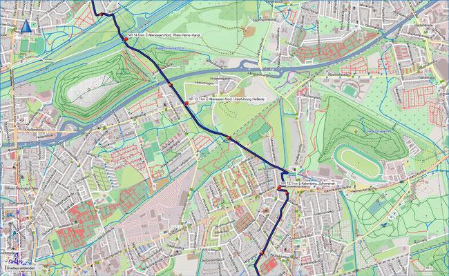 Naturroute Karte 4 Essen-Katernberg - Essen-Altenessen-Nord