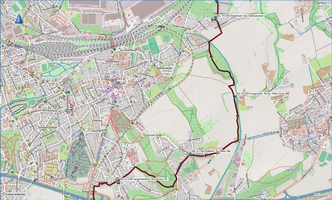 (B) Rund um Bochum Detailkarte 4 BO-Oesterheide - BO-Langendreerholz