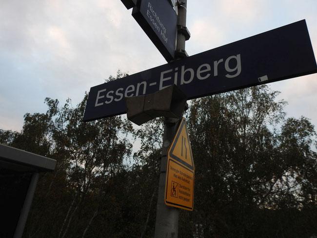 ... Haltepunkt Essen-Eiberg der S-Bahnlinie S1 von Solingen Hbf über Düsseldorf, Duisburg, Essen und Bochum nach Dortmund Hbf