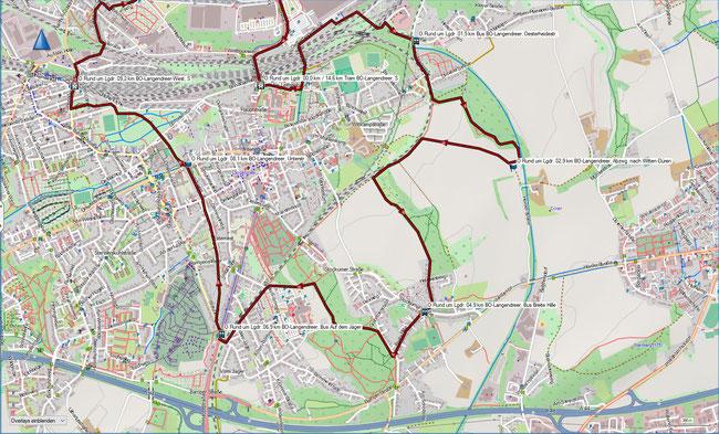 Rund um Langendreer Karte 1 BO-Langendreer, S - BO-Langendreerholz - BO-Langendreer West, S
