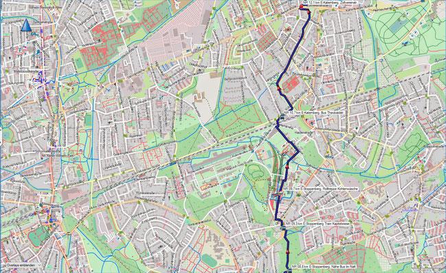 Naturroute Karte 3 Essen-Stoppenberg - Essen-Katernberg