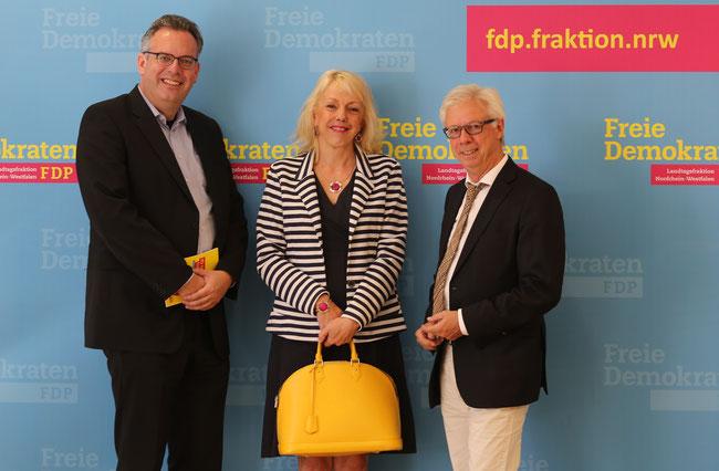 Thomas Franzkewitsch (FDP), Susanne Schneider (FDP), Günter van Aalst (Techniker Kasse)