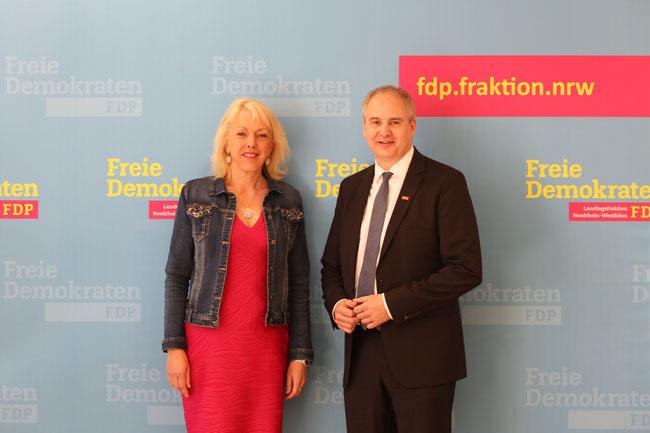 Susanne Schneider (FDP), Matthias Blum (Krankenhausgesellschaft NRW e.V.)