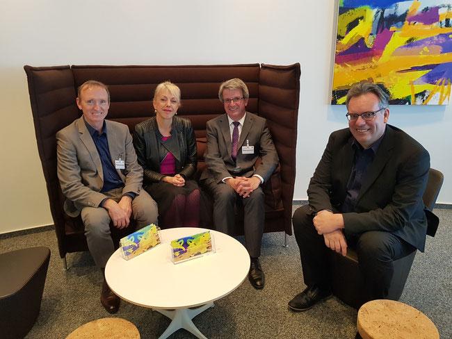 Andreas Hustadt (MDK), Susanne Schneider (FDP), Werner Greilich (MDK), Thomas Franzkewitsch (FDP)