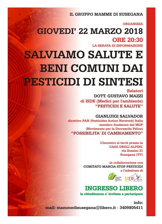 22/03/2018 Gruppo mamme di Susegna-Salviamo salute e beni comuni dai pesticidi di sintesi