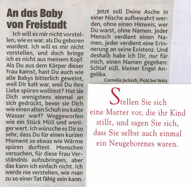 13.06.2020 - Nachdem ein Spaziergänger am Freitagabend in Freistadt im Pregartenteich eine Babyleiche entdeckt hat, lief am Samstag die Fahndung ...