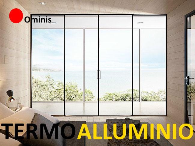 Listino prezzi serramenti termici in alluminio ominis for Costo serramenti in alluminio