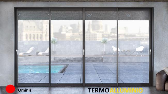 Listino prezzi serramenti termici alluminio ominis for Costo serramenti in alluminio