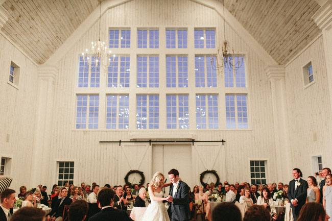 Dallas wedding DJ at White Sparrow Barn First Dance