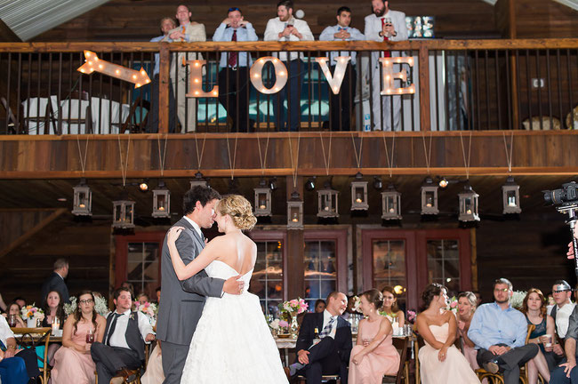 Dallas and Fort Worth wedding DJ at Thistle Springs Ranch Cleburne