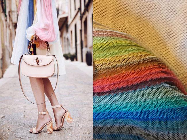 BILD RECHTS: Farben auf  Lager Standard-Tüll Jabouley dentelle