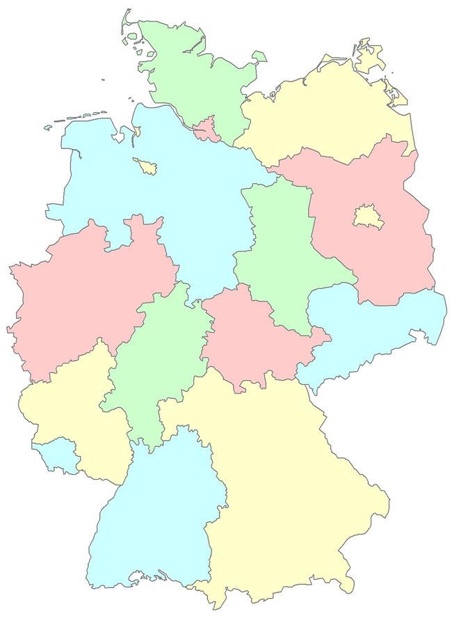 Made in Germany Produkte: Deutschlandkarte
