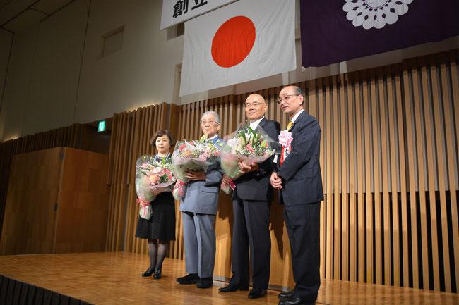 表彰された先生方(左から中川翔園先生、福原堂礎先生、木村星翔先生)