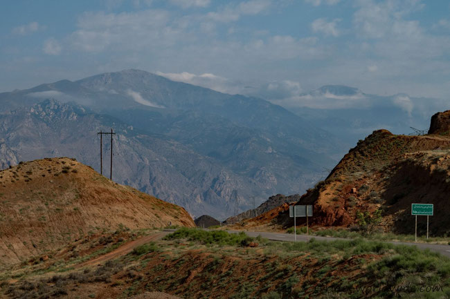 Nach der armenisch - iranischen Grenze