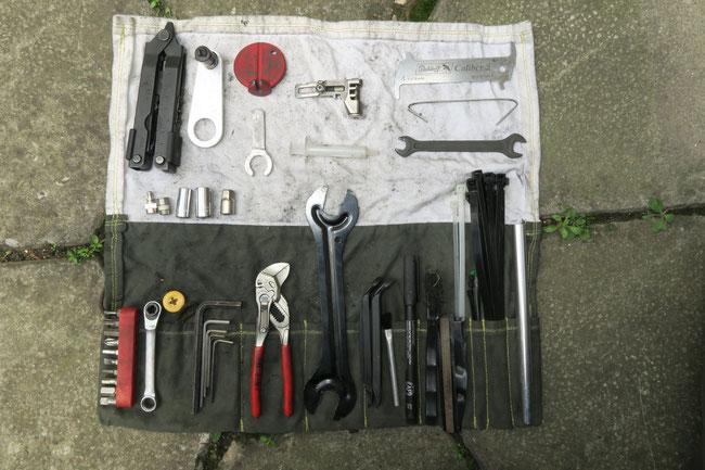 Andis selbst genähte Werkzeugrolle