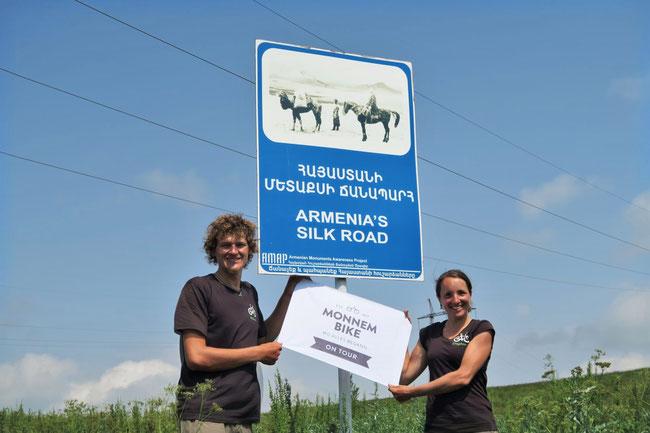 Wilkommen mit Monnem Bike auf der armenischen Seidenstraße