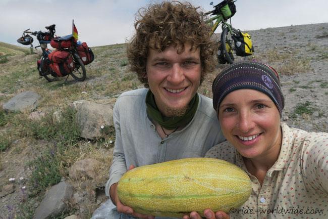 Eine Melone geschenkt
