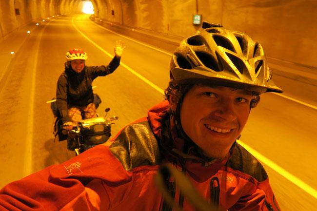So lange kein Verkehr ist können Tunnel richtig Spaß machen