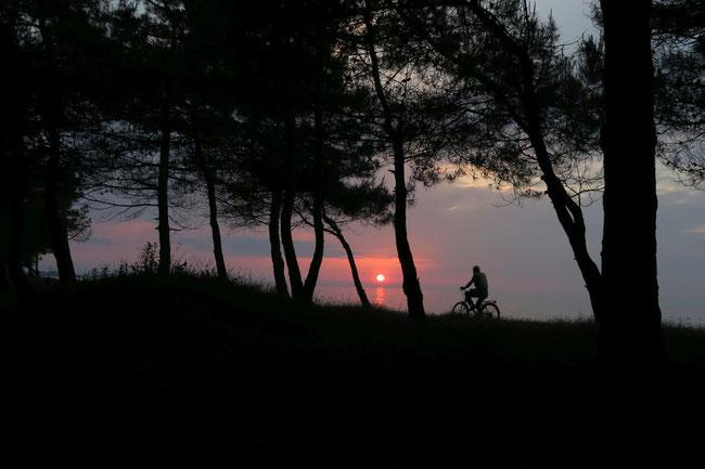 Sonnenuntergang vor Ünye. Klasse Zeltstelle