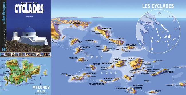 Création cartographie - Les Cyclades