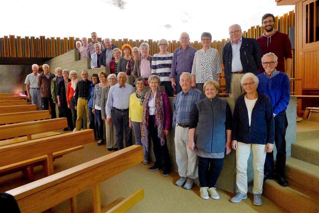 Aufnahme vom 10. September 2017 in der Felsenkirche Raron (VS) anlässlich des Chorausflugs