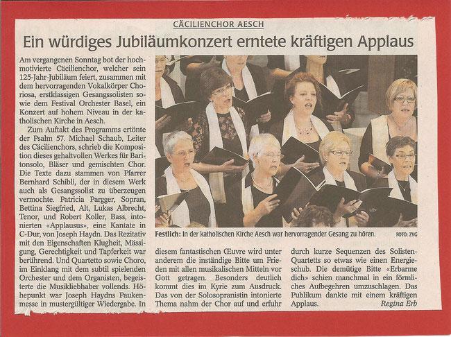 Das Wochenblatt Birseck vom 26.05.2011
