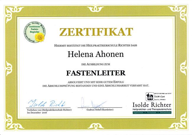 Ernährungsberatung, Heilfasten, Fasten, Fastenbegleiter, Buchinger Fasten, Hildegard von Bingen Fasten, Isolde Richter, Helena Ahonen