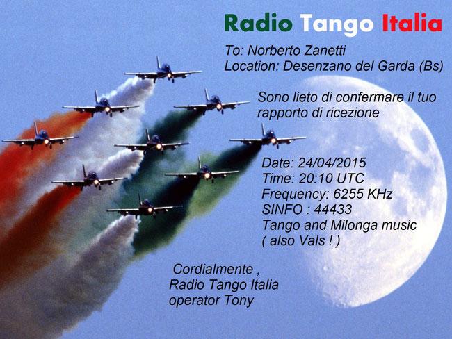 Radio Tango Italia , tx transistorizzato pll da 240 W P.e.P. output , l'antenna folded dipole in V inverted dal guadagno tipico di 3dB