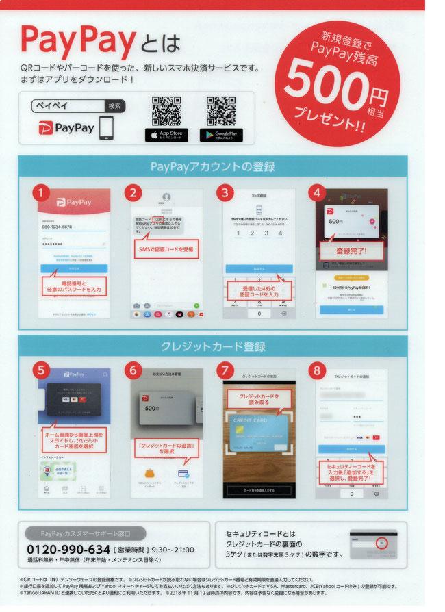 PayPayアカウント登録・クレジットカード登録