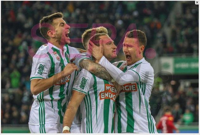 24.2.2019 Rapid Wien v RB Salzburg  2:0 (0:0)
