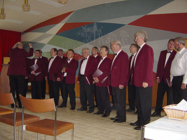 Rehearsal before the concert in Usseln (9/14/2002)