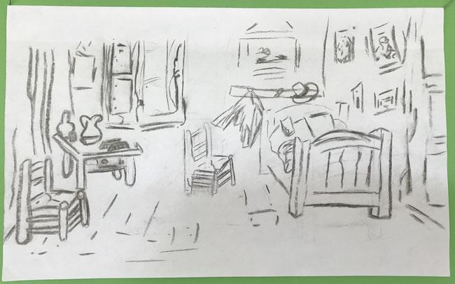 Zeichnung: Vivien Berger nach Vincent van Gogh
