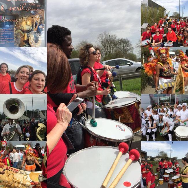 Batucada Zé Samba à le fête de printemps de Louvres