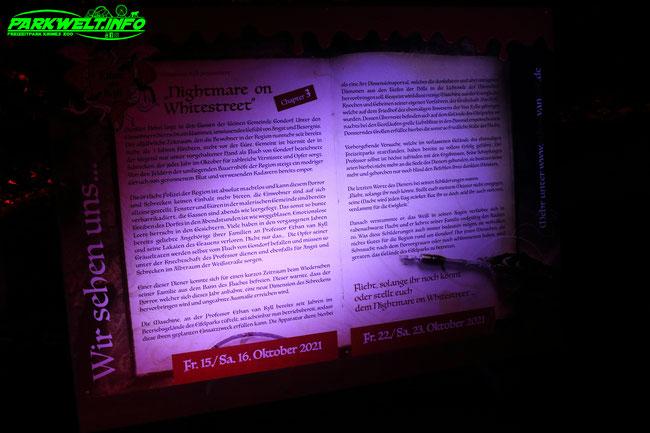 Halloween Eifelpark Freizeitpark 2021 Nightmare on Whitestreet chapter 3 Horror Bitburg