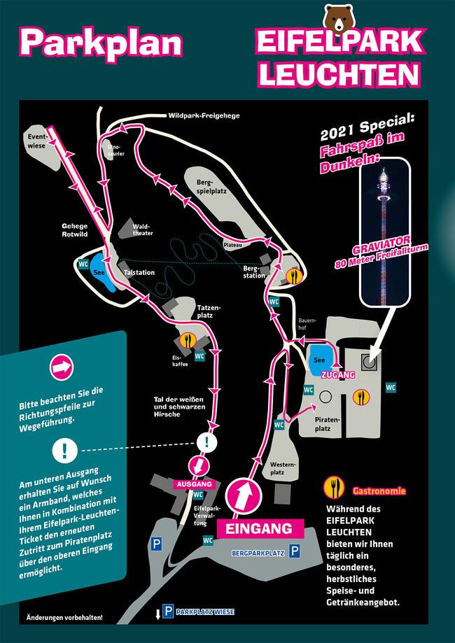Park Plan Eifelpark Leuchten 2021 Rundgang Weg