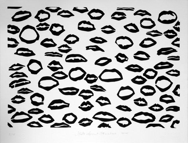 2010. Linogravure. Format matrice : 422 mm x 605 mm. Tirage : 51 cm x 66 cm sur papier Velin d'Arches. Édition limitée à 20 exemplaires.
