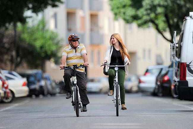 """""""Radeln in allen Lebenslagen"""": Auch als SeniorIn sicher auf dem Fahrrad"""