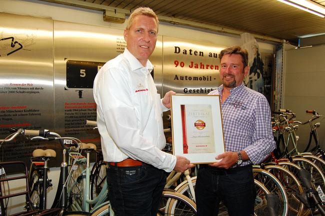 Jung & Volke aus Düsseldorf ist Batavus-Fachhändler der Saison 2015/2016