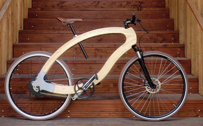 Das Holz-E-Bike mit Continentals Antriebssystem ©Continental