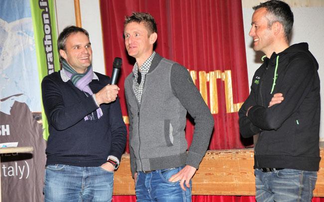 Profi-Talk: Josef Bernhart im Gespräch mit Ex-Weltmeister Roel Paulissen und Hannes Pallhuber © Günther Schöpf