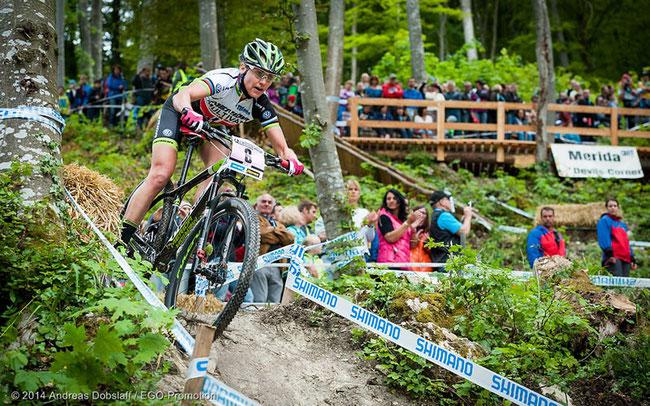 Gunn-Rita Dahle-Flesjaa beim Weltcup in Albstadt ©Andreas Dobslaff/EGO-Promotion