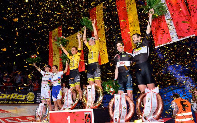 Siegerehrung beim Berliner Sechstagerennen © Frontalvision