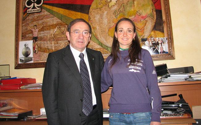 Ernesto Colnago mit Eva Lechner  © Colnago-Team