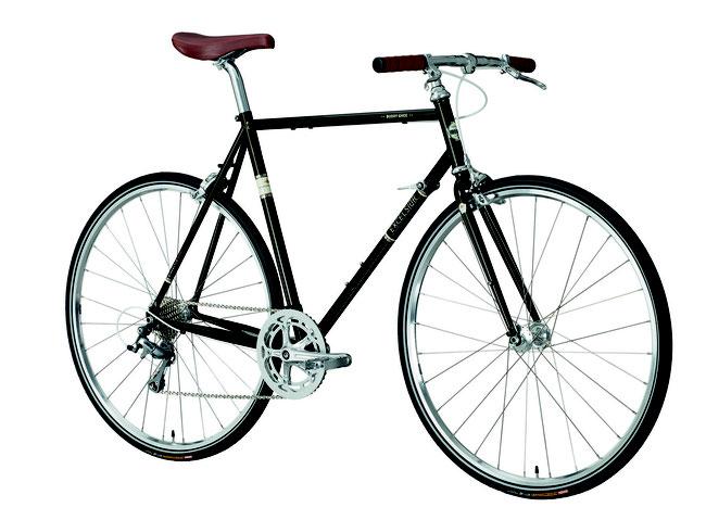 Mit Rahmenschalthebeln: das Vintage-Rad Buddy Ghee
